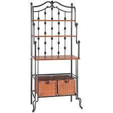 ideas antique interior storage design ideas with bakers rack