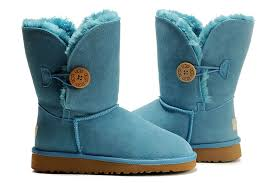 ugg womens boots waterproof s bailey button waterproof light blue boots