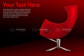 Red Armchair Modern Red Armchair With Sample Text Vectorjunky Free Vectors
