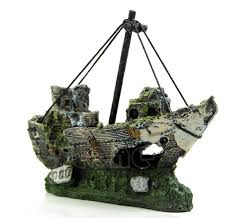 sunken ship wreck fish tank decoration stickpets