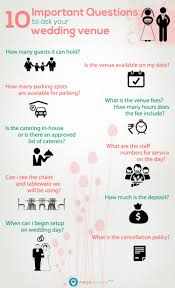 what is a wedding venue 10 important questions to ask your wedding venue visual ly