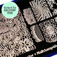 blogger collaboration nail art polish stamping plates bm xl206
