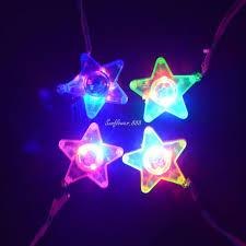 children led light up blinking necklace