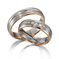 weddings 10k his hers wedding bands 10k two tone gold wedding band diamond