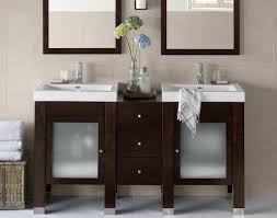 fascinating walnut design for double sink vanity ideas with glass
