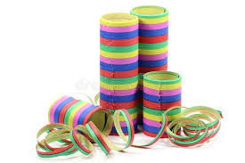 streamers paper paper streamers stock photo image of year white birthday 66317172