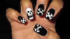 skull and crossbones nail art u2013 slybury com