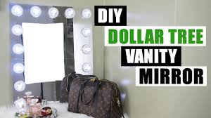 How To Make A Makeup Vanity Mirror Dollar Tree Diy Vanity Mirror Large Diy Vanity Mirror Tutorial