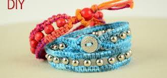 bracelet wrap diy images Diy beaded wrap bracelet with square knot and button clasp jpg