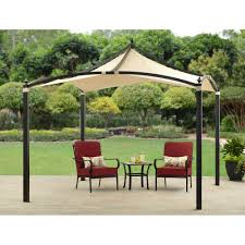 Mainstays Gazebo Replacement Parts by Outsunny 11 U0027 Round Outdoor Patio Party Gazebo Canopy W Curtains