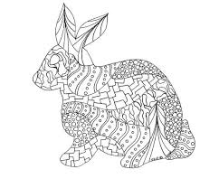 coloring pages free rabbit coloring