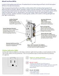 leviton 20 amp 125 volt duplex self test gfci outlet white r12