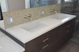 Edmonton Bathroom Vanities Quartz Integrated Sinks Modern Vanity Tops And Side Splashes San