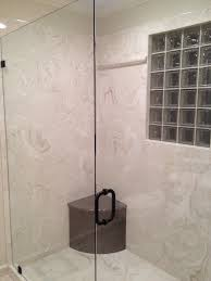 Bath Shower Panels 6 Faux Stone Shower Panels Shower With Cultured Marble Wall
