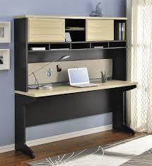 credenza computer desk amazon com altra furniture benjamin credenza u0026 hutch bundle