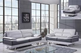 Grey Contemporary Sofa by Glx U7330lightgrey Darkgrey Modern Sofa Set In Light Grey Bonded