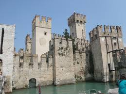 sinking castle lake garda italy abandoned places pinterest