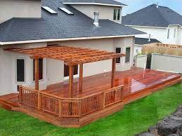 Wood Patio Deck Designs Backyard Wood Deck In Designs Of Exemplary Ideas About Pictures