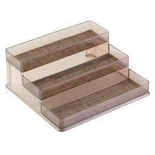 interdesign twillo 3 tier stadium spice rack in bronze sand 34580