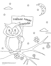recycling coloring pages for kids 3437