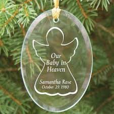 personalized baby in heaven glass ornament christmas memorial