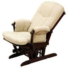 Designer Wooden Rocking Chairs Furniture Luxury Beige Glider Chair On Cozy Wooden Floor