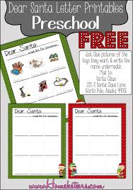 preschool dear santa letters free printables christmas santa