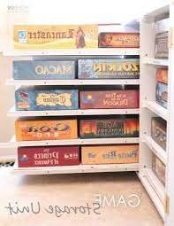 board game storage cabinet diy board game storage units stores games on pull out shelves in