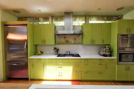 green and kitchen ideas design white and green kitchen interior with quartz countertop