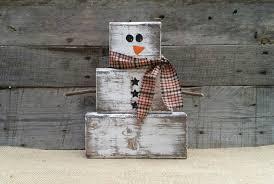 wooden snowman rustic wooden snowman christmas decor block snowman