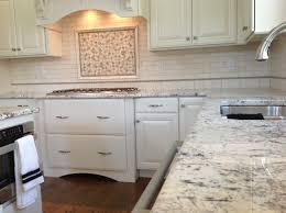 countertops classic all white kitchen white glass cabinet door