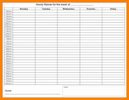 weekly hourly calendar template eliolera com