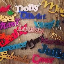 acrylic name necklace personalised name necklace custom design acrylic plastic laser