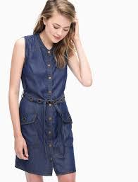 wilder tencel button down dress in dark wash splendid