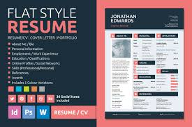 Resume Sample Personal Information by Flat Style Resume By Bilmaw Creative On Creative Market Inspire