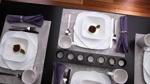 Corelle Square Dishes Corelle Pure White 16 Piece Dinnerware Set Youtube