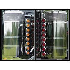 peterbilt air cleaner lights air cleaner lights and light bars big rig chrome shop semi truck