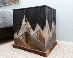 Natural Wood Nightstands Rustic Nightstand Etsy