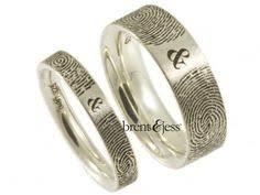 fingerprint wedding band pin by schnuffelinis on fingerprint wedding