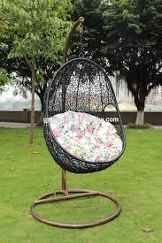 Indoor Hanging Swing Chair Egg Shaped Wicker Rattan Swing Bed Chair Weaved Egg Shape Hanging Hammock