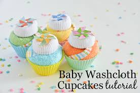 washcloth cupcakes tutorial project nursery
