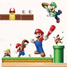 Super Mario Bedroom Decor Pvc Super Mario Bros Wall Sticker Home Decor For Kids Rooms