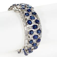 sapphire bracelet with diamonds images Boucheron paris mid 20th century platinum sapphire and diamond jpg