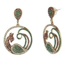 peacock earrings earring diamond studded peacock earring at rs 70 pair peacock