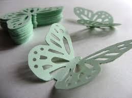 mint wedding decorations mint green paper butterflies die cut butterflies mint green die