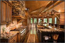 Log Cabin Kitchen Images by Kitchen Bath Gallery Hancock Lumber Building Materials