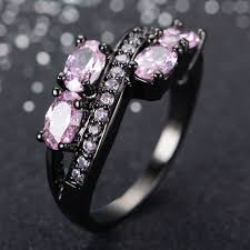 black and pink wedding rings 29 pink and black wedding rings ring designs design trends