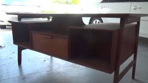 Danish Modern Teak Desk by Danish Modern Teak Desk Part 1 Youtube