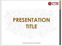 utm powerpoint template utm slide presentation template