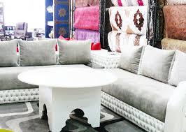 tissu canapé marocain salon marocain vente salon sur mesure pas cher